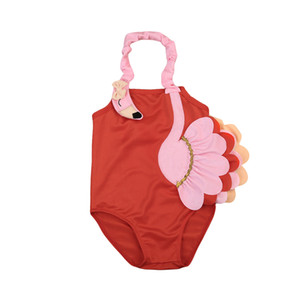 3D Фламинго Купальники 2020 Baby Girl купального костюма Комбинезоны плавать одежду для детей лето купального костюма Beachwear Biquni Trikini
