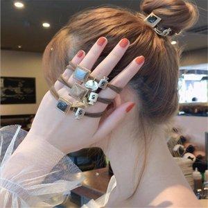 Корейский руководитель Rope Женского Симпатичные Rope волоса Браслет двойного назначение Простой Wild резинка для волос кольца Девочки Аксессуары