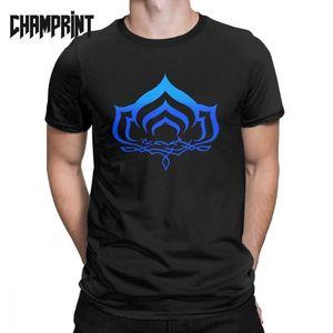 T-shirt para Men Cotton T engraçado Camisas Plus Size 4XL 5XL 6XL Roupa Sleeve O pescoço curto T Símbolo Warframe Lotus