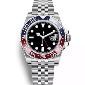 2019 New Modell Watches Herrenuhr GMT Automatik Jubiläumsuhr Herrenuhr Orologio di Lusso Orologi da Uomo Blau Schwarz Armbanduhr
