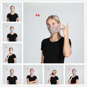 Floral Print Face Mask Breathable Mouth Masks Anti Dust Washable Reusable Face mask cover Designer Mask 10pcs