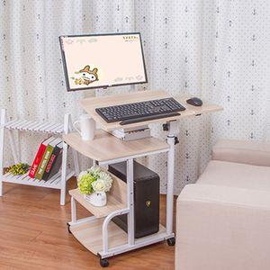 유럽 노트북 표 다기능 매달려 데스크탑 컴퓨터 책상 홈 원활한 침대 옆 테이블 창조적 인 회전 노트북 데스크