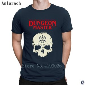 Dungeon Master DM D20 Dice Slaying Dragons tshirts awesome Customized t shirt for men Spring Autumn Basic Solid top tee Vintage