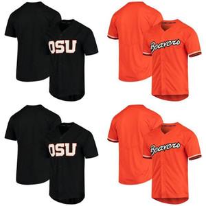 Erkek Oregon Eyalet Kunduzlar NCAA Jersey% 100 Dikişli Oregon Eyalet Kunduzlar Buhar Dokunulmaz Koleji Beyzbol Formalar Ücretsiz Kargo S-XXXL