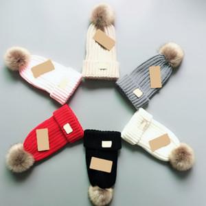 Ponpon Beanies Ayarlanabilir Düz Renk Örgü Şapka Sıcak Kafatası Cap İçin Sonbahar Ve Kış Erkekler Kadınlar Moda 20 E1 Caps