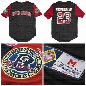 빅 보이 버밍엄 블랙 바론 사용자 정의 NLBM 흑인 리그 야구 저지 한 stiched 이름 한 stiched 번호 빠른 배송