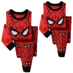 2ST Boy Kinder Langarm Spiderman T-Shirt + Hosen Outfits Pyjama Set Nachtwäsche