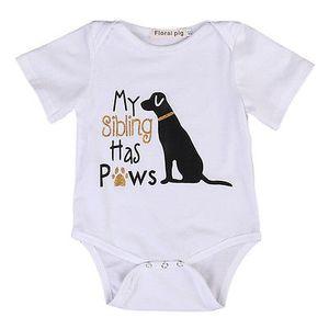 Baby Romber 2019 Летний Хлопок Новорожденный Детская Одежда Мальчики Девочки с коротким рукавом Симпатичные Собаки Комбинезоны Младенческие Малыш Одежда Новорожденные наряды