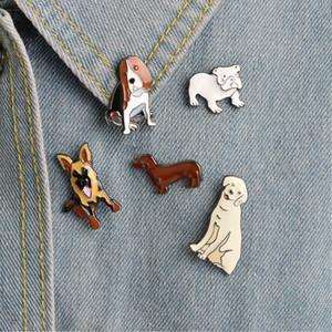 Gioielli Bulldog Golden Retriever Pastore Bassotto Cane Cane Pin Spilla smalto Pin del risvolto degli animali per il cane Lover