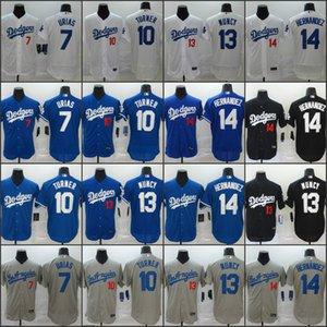 Los Angeles 2020 Dodgers Jersey 13 Max Muncy 7 Julio Urias 10 Justin Turner 14 Enrique Hernandez 07