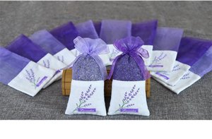 8 Estilos de algodón púrpura del Organza de lavanda secas bolsita bolsa de bricolaje decoración del partido Ward, ornamento de la flor de Navidad Centros de mesa DC120
