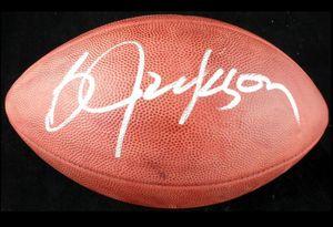 Kapı Futbol topu dışarı BO JACKSON iyi İmzalı İmza signatured ABD Amerika rugby Milli Lig spor kapalı /