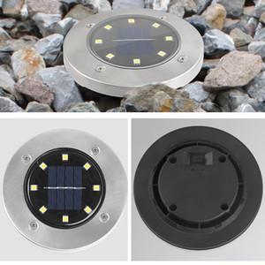 Solarweg Lichter 8 LED 12 LED-Sonnenenergie-Buried-Licht wasserdichter Grundlampe Außen Pfad Weg Garten Decking U-Bahn-Lampen BH2975 TQQ