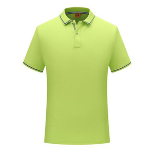 2019 новая летняя мода кнопка строка лямки с коротким рукавом равномерное футболка фрукты зеленый мужские и женские поло SD-1898-270