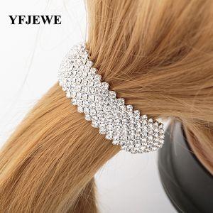 YFJEWE Fashion Hair Styling Women Hair Jewelry high-quality Wedding Accessories Bridal Crystal Rhinestone Hairbands Women #H011