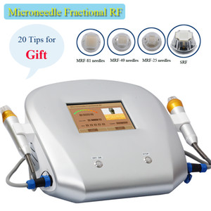 Dos asas Thermage tratamiento facial fraccional RF microneedling Máquina de tratamiento de acné arrugas equipo de eliminación de la belleza para el balneario