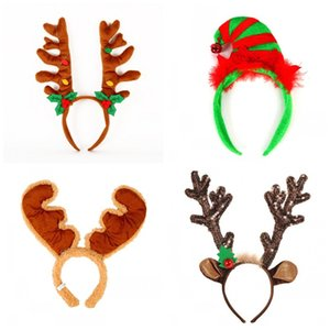 De dibujos animados de Navidad astas bandas del pelo banda para la cabeza de franela con la Navidad de Bell Decoración para Niños Chicas Mujeres Pelos partido hebilla 7 5xx E1