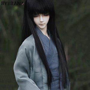 Bybrana 1/3 1/4 1/6 1/8 BJD парики Длинные черные прямые Высокая температура волокна волос для кукол CX200611