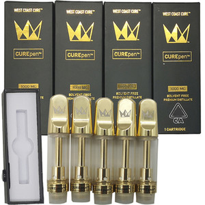 Cure Pen West Coast Vape cartucho de embalagens vazias Vape Pen 510 Ceramic Cartucho E Cigarettes Vape Carrinhos 0,8ml 10ML Oil Atomizador vaporizador