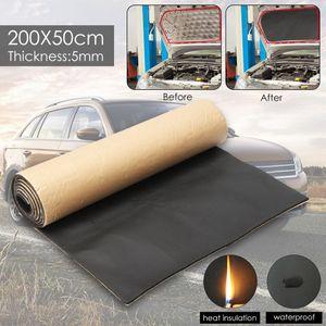 1ROLL 200cmx50cm 5ммы автомобиль звукоизоляция омертвение Грузовик шумозащитных звукоизолирующая Cotton тепло закрытых поры самоклеющаяся