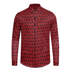 Tasarımcı Slim Fit Gömlek Medusa Erkekler = * 8989 * 3D Altın Çiçek Baskı Erkek Gömlekler Uzun Kollu Iş Rahat Gömlek Erkeklerde Giysi