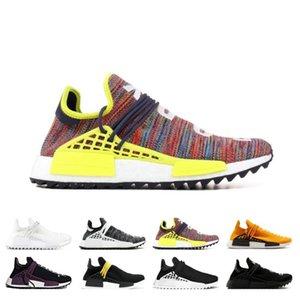 2020 Vente NMD Human Race Hu Trail PW Chaussures de course Pharrell Williams Digijack pack BBC crème Nerd Know âme entraîneurs des hommes de sport Chaussures de sport