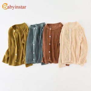 Babyinstar Baby Mädchen Mäntel 2018 Sommer Kinder Baumwolle Strickjacke Sonnenschutz Kleidung Kinder Langarm Pullover Jacke