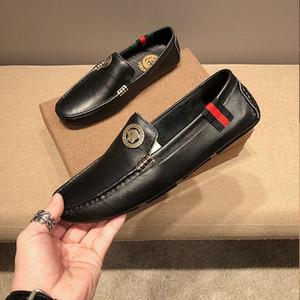 Hommes Chaussures Marques italiennes Casual Slip sur la qualité haute formelles Chaussures hommes Mocassins Mocassins en cuir véritable Brown Chaussures de conduite