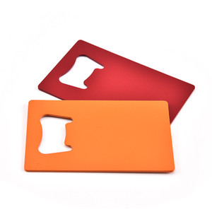 Handle Aço Inoxidável cerveja abridor de garrafas Asa Esvaziar design 4 cores presentes Cartão abridores Home Kitchen Gadgets Para Promontional duráveis 1 4TS