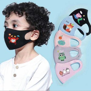 PM2.5 Children Anti-Dust Masks Boys Girls Cartoon Face Mouth Mask Kids Breathable Anti-Pollution Earloop Resuable Washable Cotton Silk Mask