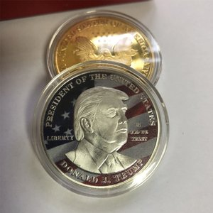 Donald Trump Président Pièce commémorative Trump fer Pièces de collection Pièces cadeaux Amérique Président Trump Pièce commémorative