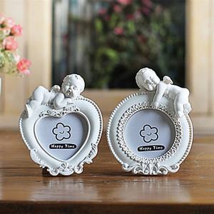Coração Retângulo Oval Shaped Photo Frames For Kids, 2 Inch Mini presente de casamento Picture Frame branco Photo Frame, fotolijstje