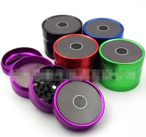 Fumo CNC Grinders 63 millimetri Diametro 4 livelli forma Bluetooth Speaker Aeree in lega di alluminio a secco Herb Spice Frantoi Strumenti Accessori