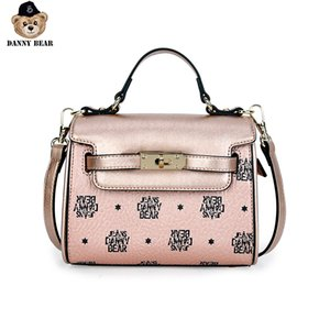 Danny Bear Vogue Crossbody Synthetic Leather Print Seires Casual Daily Shoulder Bag Handbag Square Bag DMJ9816091