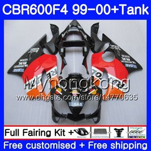 Cuerpo + tanque para HONDA CBR600 F4 CBR 600 F4 FS CBR600 F 4 287HM.5 Repsol naranja negro CBR600F4 99 00 CBR600FS CBR 600F4 1999 2000 kit de carenados
