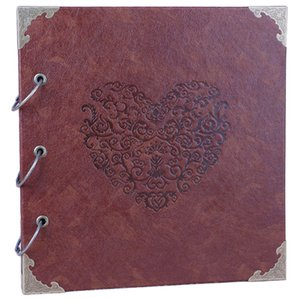 16 Inch Practical Scrapbook Album Leather Material Diy Memory Photo Album for Valentine'S Day Wedding Travel Gifts
