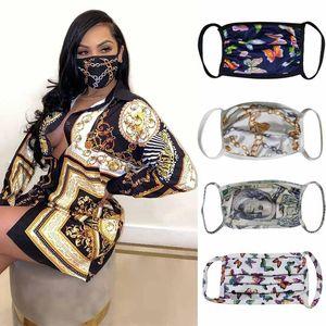Designer Masque anti-poussière ultraviolet résistant à la bouche moufles Hommes Femmes Masques Visage luxe Lettre Imprimer Marque Protecteur Lavable Face Mask