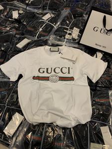 2020 printemps et l'été italien dernière lettre ruban d'impression sauvage occasionnel de haute qualité designer de mode masculine T-shirt T-shirt en coton mélange de luxe