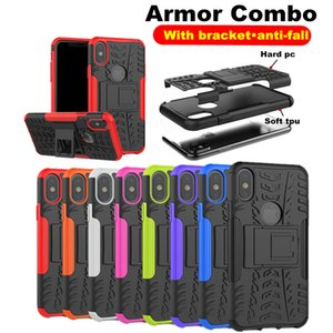 2 in 1 Armor Case For Iphone XR XS MAX 7 6 8 Plus 5 5s X 10 Samsung S10 S10 EDGE Plus For HUAWEI P smart 2019 honor 10 lite Redmi Note 6 5 4