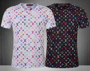 TSHIRT Toptan giyim Erkek G Tişörtler Tam ekran kaplan baskı hip hop giyim erkek tasarımcılar gömlek artı boyutu mavi Haki L211