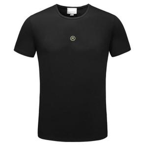 Verano de diseño en las camisas de lujo para hombre de la camiseta con letras causal camiseta corta camisetas para hombre de la manga de la ropa del diseñador M-3XL mayorista camiseta informal