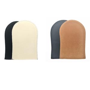 500 unids / lote gratis DHL Envío Tan Aplicador Mitt Auto Tanners Bronzers Tan Mitt en color beige y marrón
