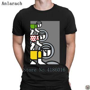 Peloton Stampa artistica tshirt design Normal tee shirt maglietta classica vestiti slim fit parti superiori del T degli uomini di formato S-3XL stile estivo