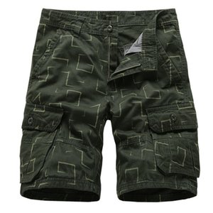 2019 New Camouflage Camo Cargo Shorts Men Summer Casual Loose Work Shorts Mens Brand Clothing Multi-Pocke Short Pants