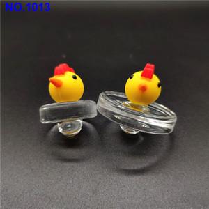 Vetro Silicone Popolare a mano Bubble Carb Cap Vetro UFO Carb cappello protezione della cupola di stile per Quartz banger Quarzo termica Banger Nails mm