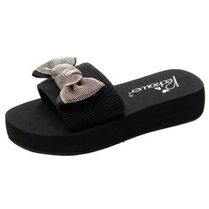 Kadınlar Kızlar Bowknot terlik Düz Bohem Stili Platformu Ayakkabı Kadın Yaz Serin Sandalet Casual Terlik Ayaklı Plaj Ayakkabı Flops