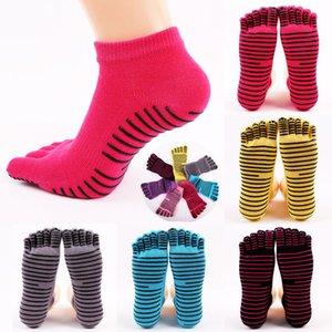Women Cotton Active Toe Colorful Non Slip Massage Socks Full Grip Socks Heel Ankle Length Socks With 4 Colrs
