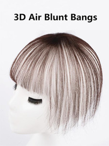 3D Air Blunt Hand Made Brazilian Human Hair Bangs Invisible clip in hair extensions Extensions & Pieces Bangs
