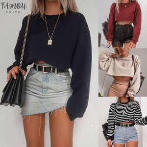 Womens V Neck Hoodie Sweatshirt Jumper Tees Crop Top Coat Sports Pullover Tops Autumn Winter Coat Women Streetwear