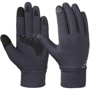 Vbiger серый между 4-10 лет дети зима холодная погода перчатки противоскользящие сенсорный экран перчатки мягкие открытый Спортивные перчатки